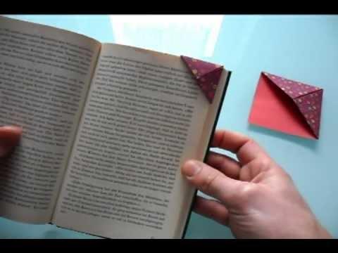 einfaches origami lesezeichen youtube. Black Bedroom Furniture Sets. Home Design Ideas