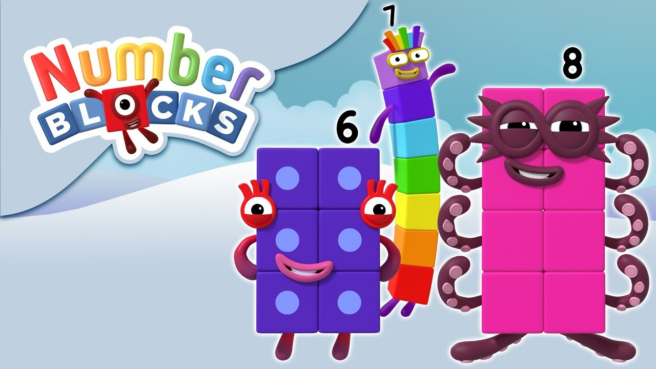 Numberblocks - Numbers 6, 7 & 8 | Learn to Count - YouTube