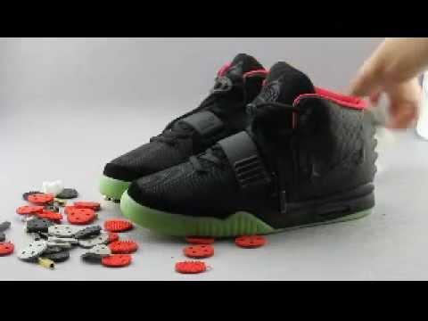 066995fa4f1 2016 Nike Super Perfect Kanye West Air Yeezy 2 Black Solar Red Replica  Sneaker
