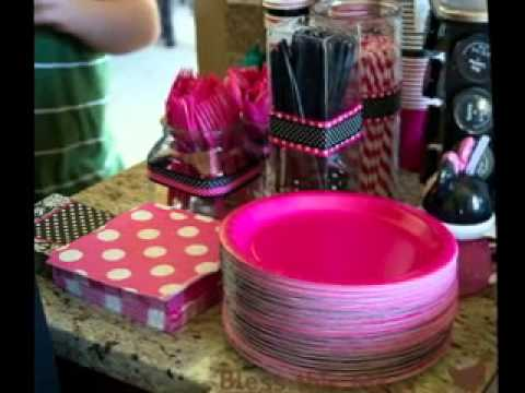 DIY Minnie mouse birthday party decorating ideas YouTube