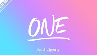 One (Piano Karaoke Instrumental) Lewis Capaldi Video