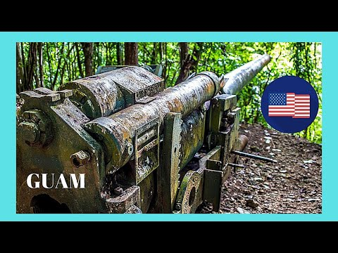 WW2 Japanese guns (Piti Guns) found in a forest in GUAM (Micronesia, Pacific Ocean)