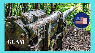 WW2 Japanese guns (Piti Guns) found in a forest in Guam (Micronesia, Pacific Ocean)