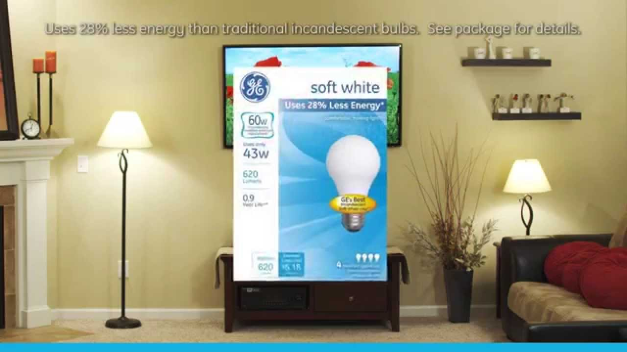Ge Soft White Halogen A19 43w Incandescent Bulb Ge Lighting Youtube