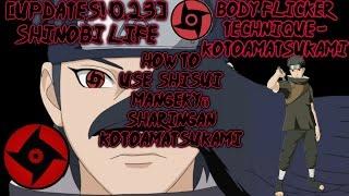 ROBLOX-[UPDATES! 0,23] shinobi vida-como usar Shisui Mangekyō Sharingan Kotoamatsukami!!