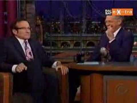 Robin Williams on David Letterman 2003 pt1