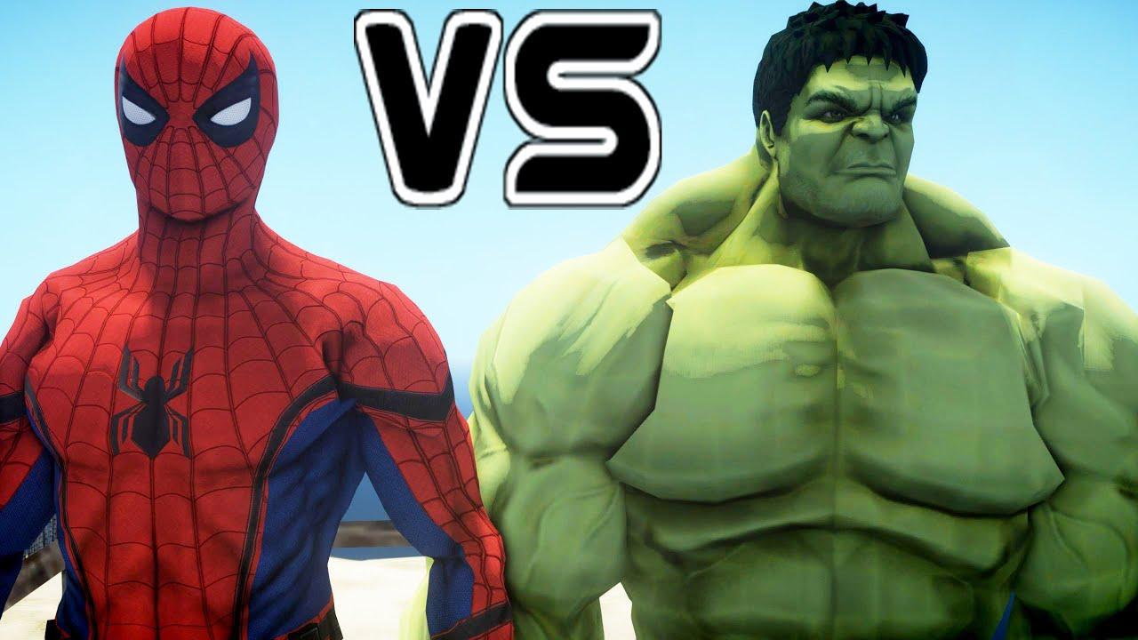 The Incredible Hulk vs Spider-Man (Civil War) - YouTube