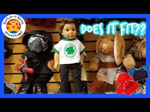 Build A Bear clothes shopping For American Girl  Boy Doll Logan Everett 2017