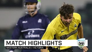 WA hold their nerve to secure narrow win over Victoria | Marsh One-Day Cup 2019