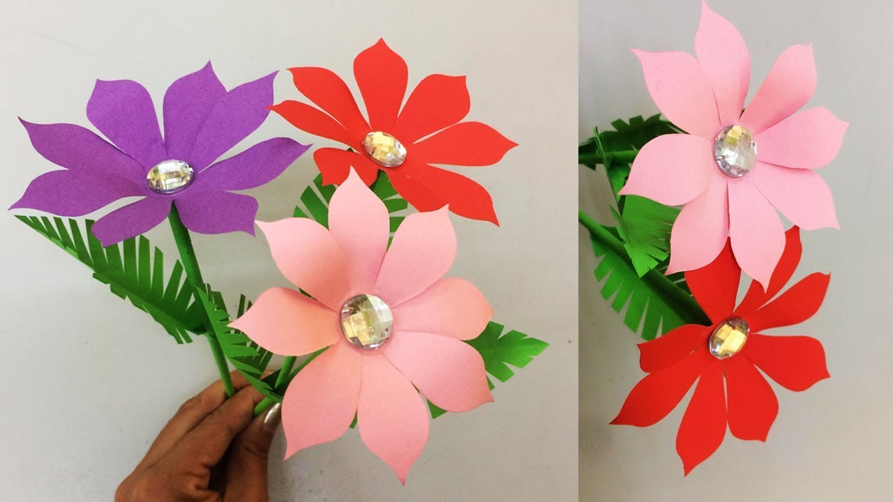 How to make realistic paper flower making paper flowers step by how to make realistic paper flower making paper flowers step by step diy paper crafts mightylinksfo