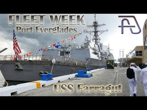 USS Farragut DDG-99 Arleigh Burke-class Destroyer At Fleet Week - Port Everglades 2019