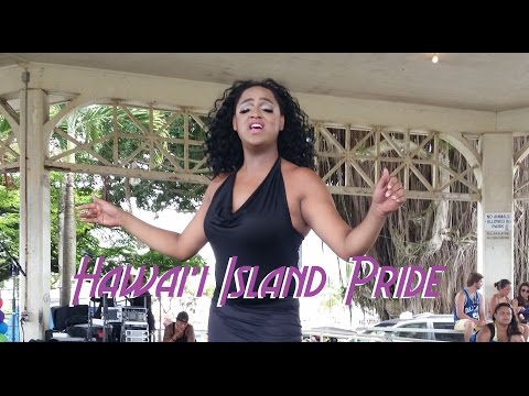 Dancing Hula at Hawaii Island Pride Festival