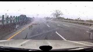 [SHOCKING] Car CRASH in China 4/8/13 [FLIPS OVER] [Driver FLIES Out Of Car]