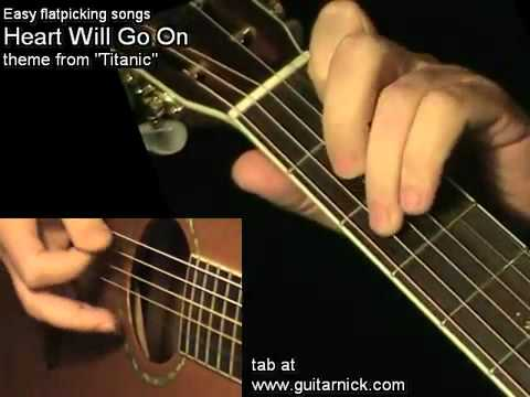 YouTube Heart Will Go On TITANIC learn how to play easy on acoustic ...