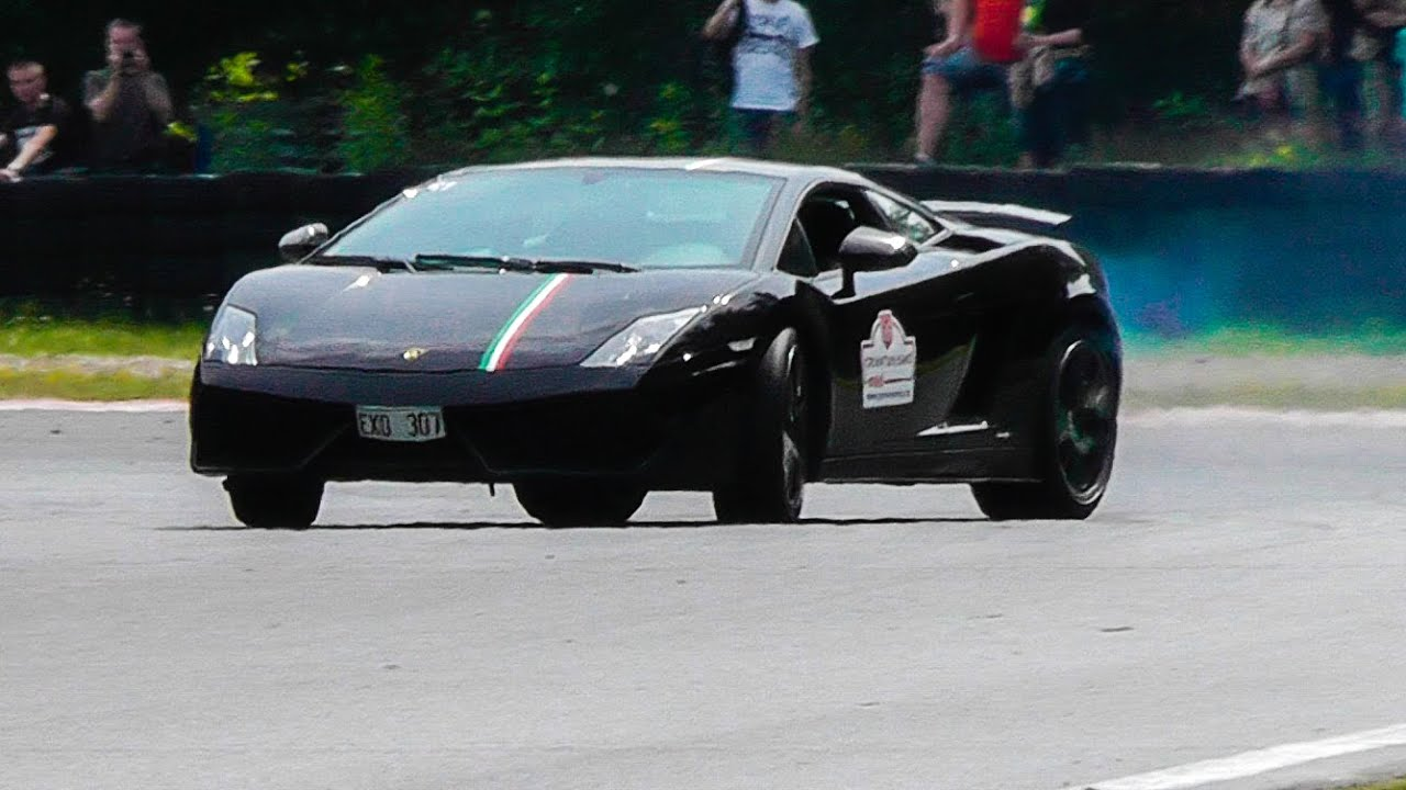 Lamborghini Gallardo Tricolore Drifting Great Sound Youtube