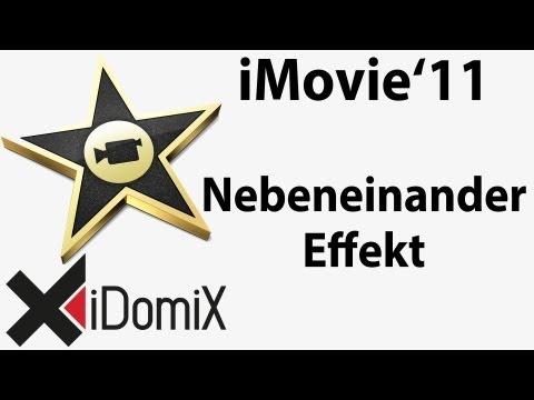 In iMovie den Nebeneinander Effekt Filter nutzen
