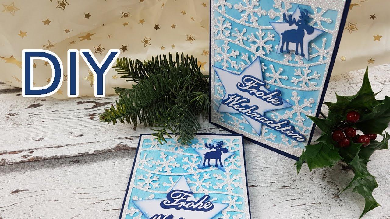 glitzer eiskristallkarte weihnachten selber basteln diy cardmaking tutorial in deutsch youtube. Black Bedroom Furniture Sets. Home Design Ideas