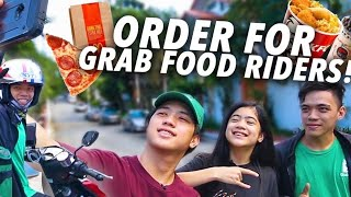 Giving Grab Food Riders Our ORDER & TIP!! (Nasurprise!!) | Ranz and Niana