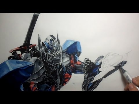 Drawing Optimus Prime Age Of Extinction Youtube