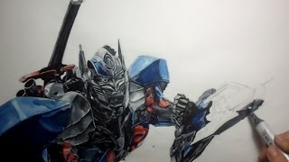 Drawing Optimus Prime:  Age of Extinction