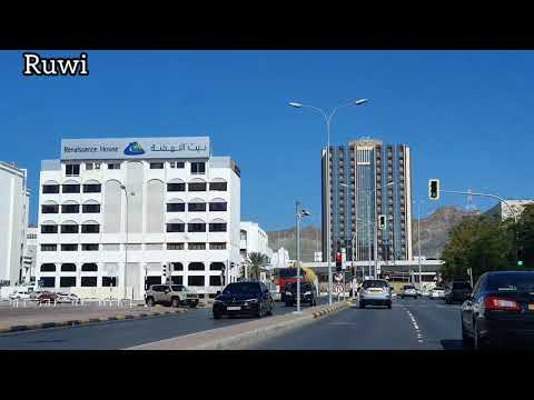 Oman Muscat- Road trip of Ruwi commercial hub of Muscat,Oman.