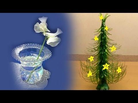 Khéo tay hay làm - Hướng dẫn làm đồ trang trí từ chai nhựa  - Handmade
