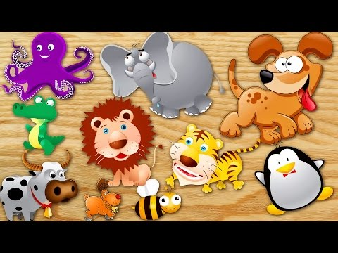 Animals Puzzle for Kids - Learn Animals Names and Sounds - Learn English. Learning Video for Kids