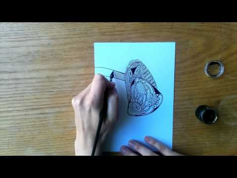 Speed Doodle with Dip Pen (time lapse)