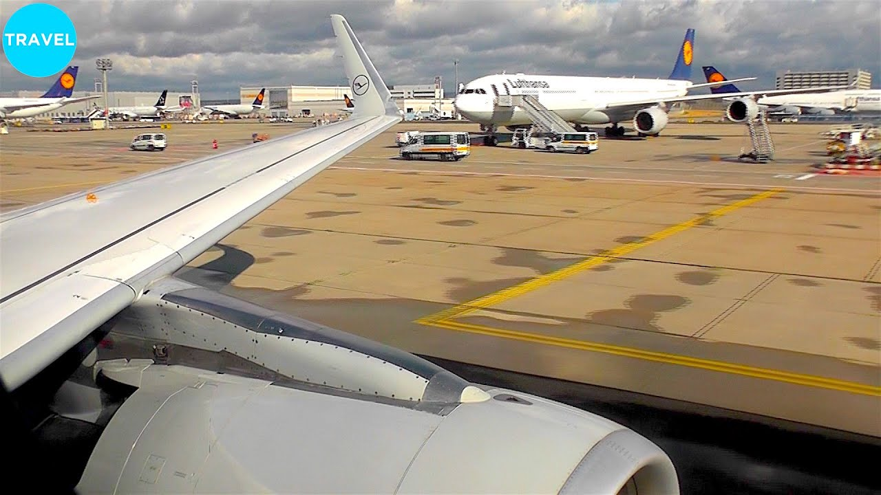 Lufthansa A320-200SL Scenic Arrival into Busy Frankfurt Am Main Airport!