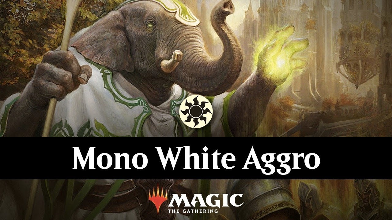 Color Challenge - Ep  3 - Mono White Aggro MTG Arena Deck Gameplay