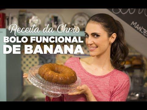 TV Chris Flores: receita de bolo de banana funcional sem farinha e sem açúcar