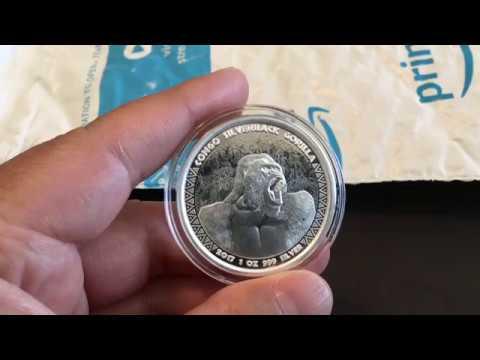 2017 Republic of Congo Silver 1 oz Silverback Gorilla Prooflike
