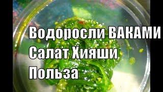 Вакаме водоросли Салат Хияши или Чука Польза для здоровья