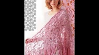 ВЯЗАНИЕ ШАЛИ КРЮЧКОМ - видео-уроки - 2017 / Crocheted shawl CROCHET - video tutorials / Gehäkelte