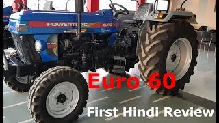 Powertrack Euro 60 Real Life Review In Hindi || Price & Specification + Features & Details || 1 ||