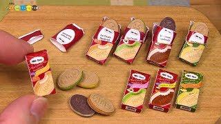 DIY Häagen Dazs Style Miniature Crispy Sandwitch (fake food) ハーゲンダッツ クリスピーサンド風ミニチュアアイス作り