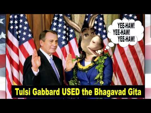 Tulsi Gabbard  The Hindu Congresswoman singing HareKrishna 2016