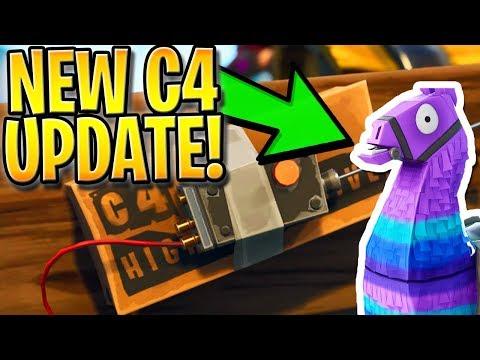 NEW FORTNITE C4 UPDATE GAMEPLAY + SUPPLY LLAMA DROPS! - Fortnite: Battle Royale