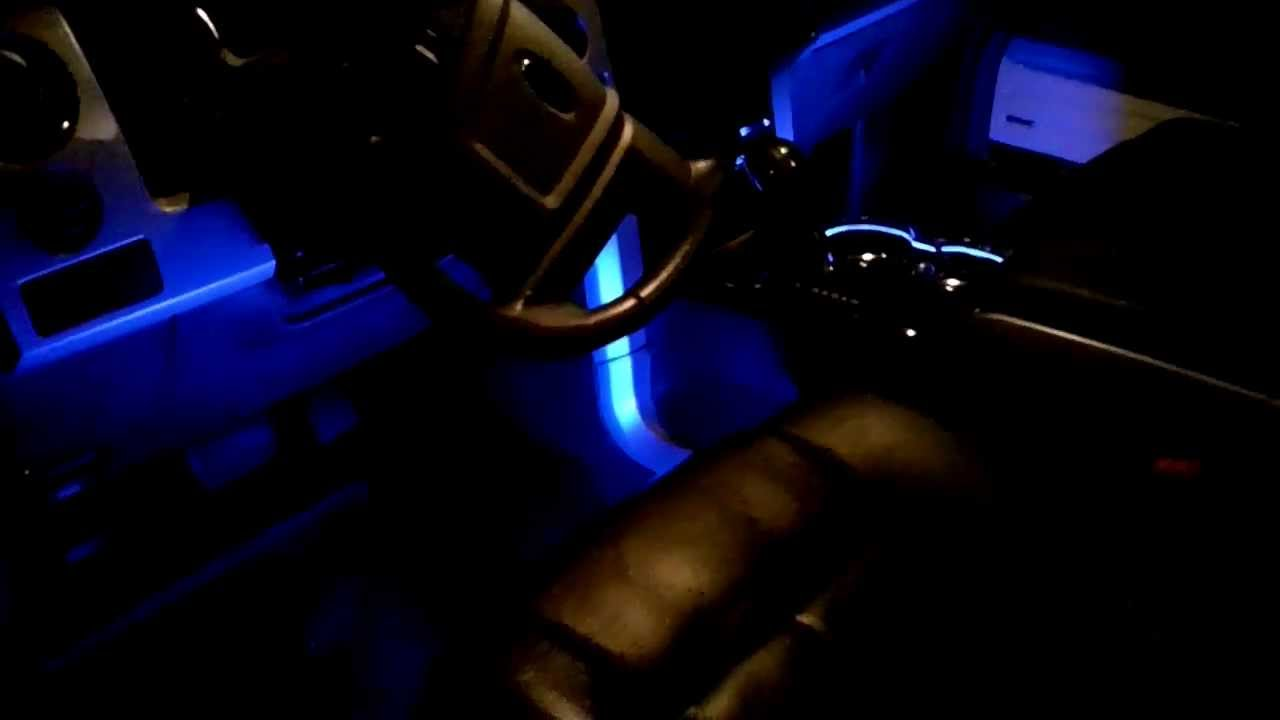 F150 Custom LED Ambient Lighting - Final Install (Cup Holder RIng & Floor) Part2 - YouTube
