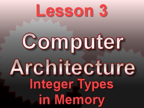 Computer Architecture Lesson 3: Integer Types in Memory