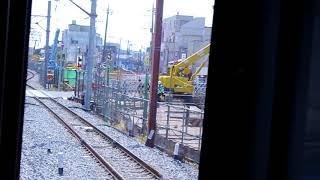 東武アーバンパークライン(東武野田線) 高架工事 清水公園駅~野田市駅 前方右側車窓