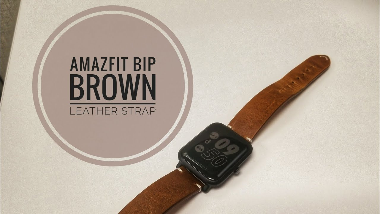 Amazfit Bip Brown Leather Strap Watch Band Youtube Huami Smartwatch Replacement