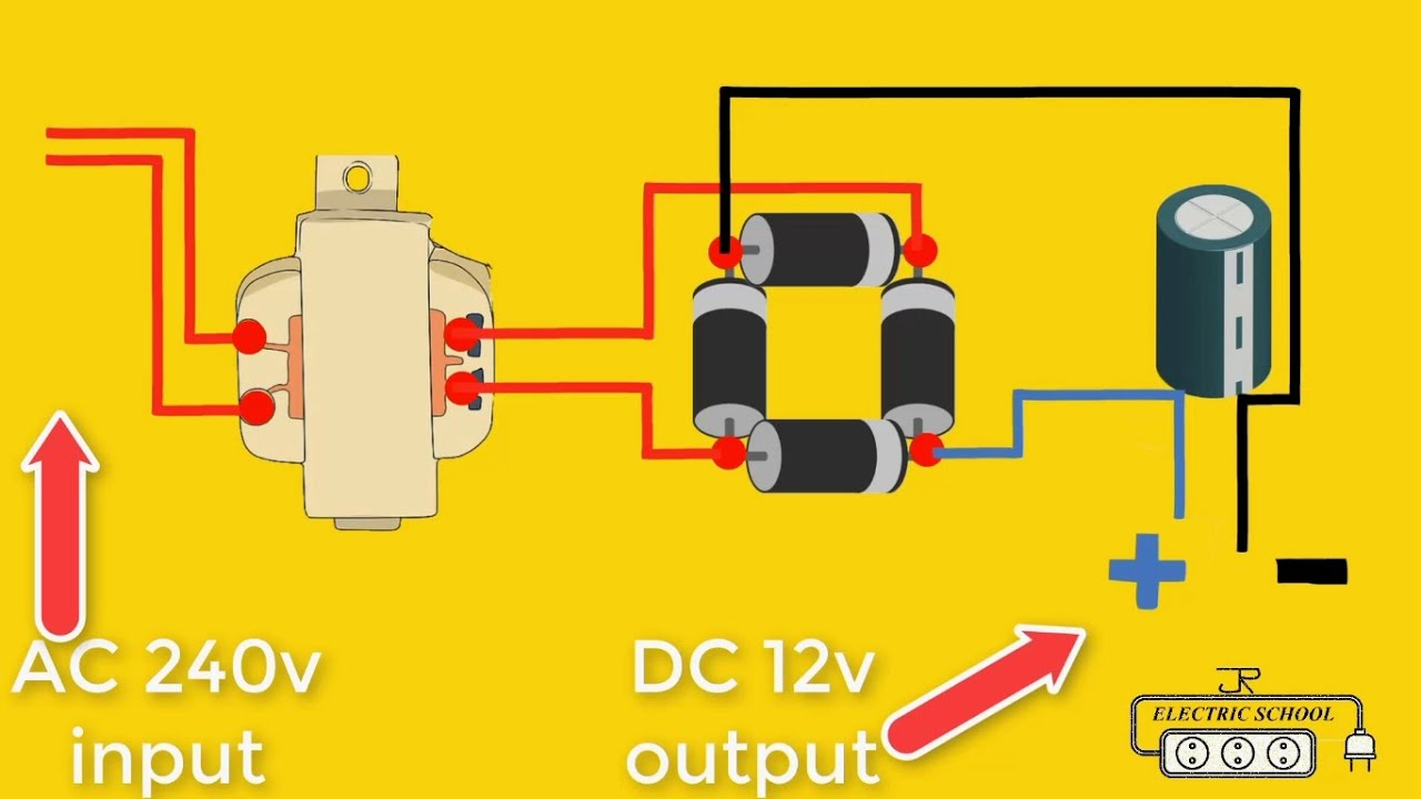 Ac 240v To Dc 12v Converter Electrical Diagram