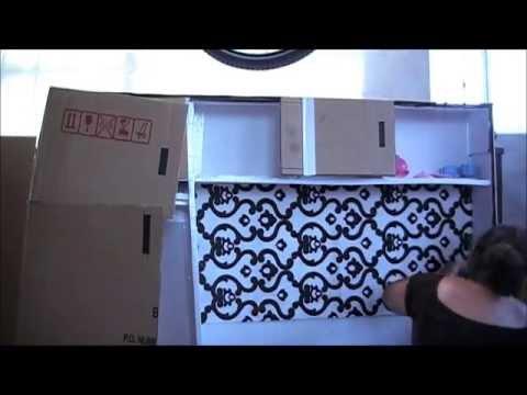 cocinita hecha con una caja de cartn primera parte carlu youtube