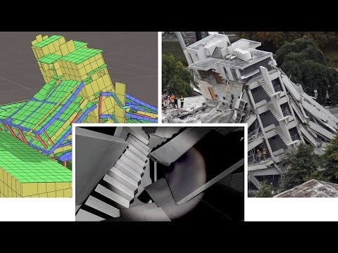 Christchurch Earthquake Simulation & Pyne Gould Building Collapse (INACHUS) - 동영상