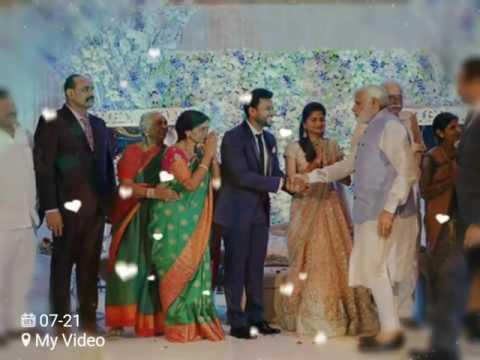 Narendra Modi garu at ramamohan naidu wedding reception