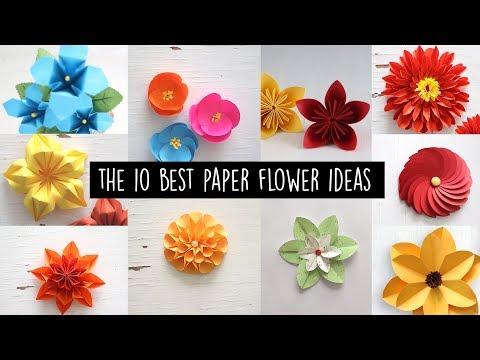 THE 10 BEST PAPER FLOWER IDEAS  !!