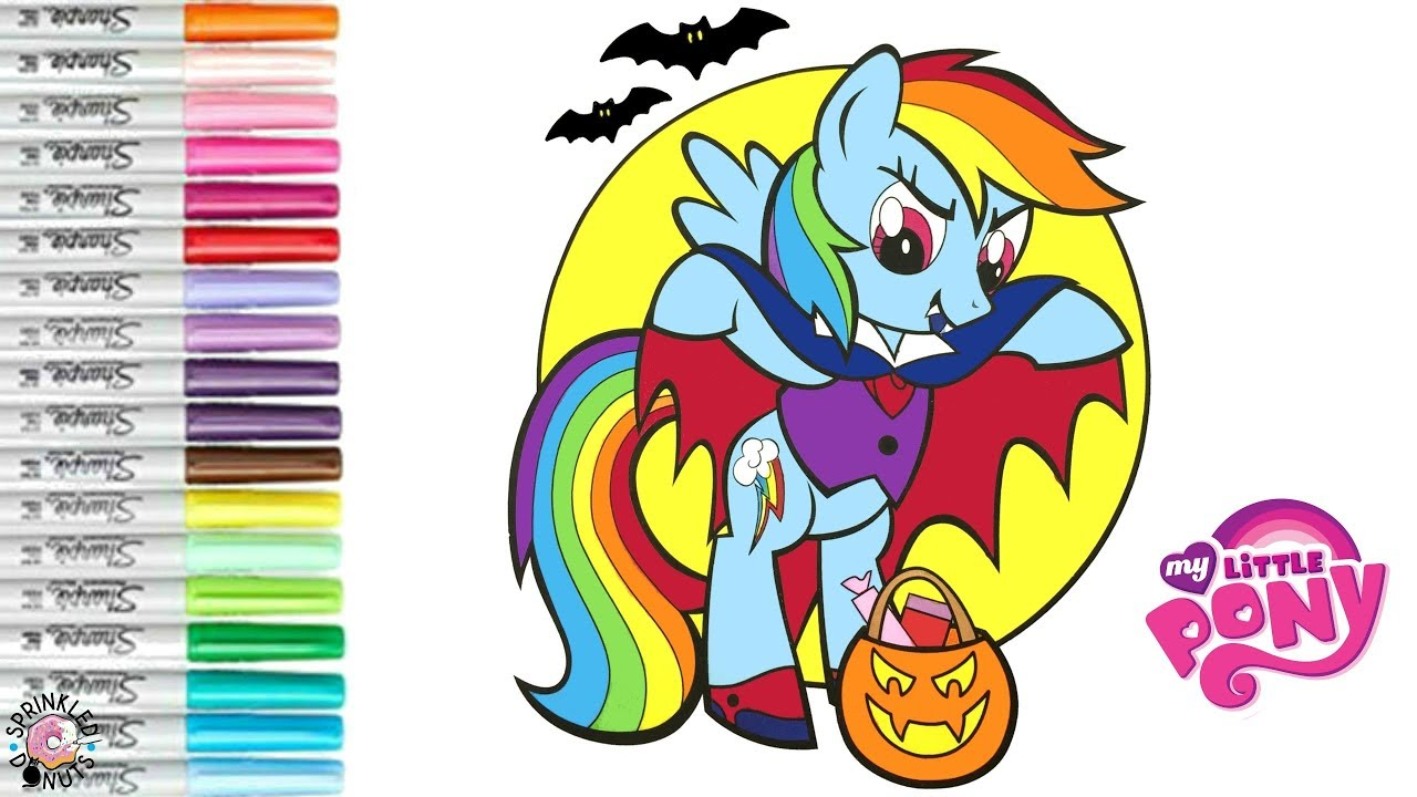 coloring my little pony halloween rainbow dash and pinkie pie mlp coloring book page