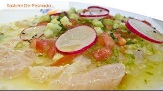 sashimi de pescado al aguachile