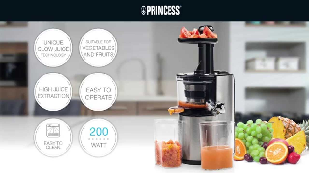 Slow Juicer Cadence Perfect Vita : Princess 202045 Easy Fill Slowjuicer Extra-large feeding tube - YouTube